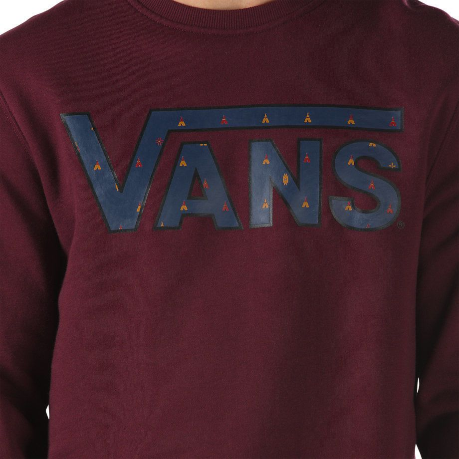 Толстовка Vans Classic Crew бордовая V00YX0KF6 - купить в интернет ... cdc077f84bf