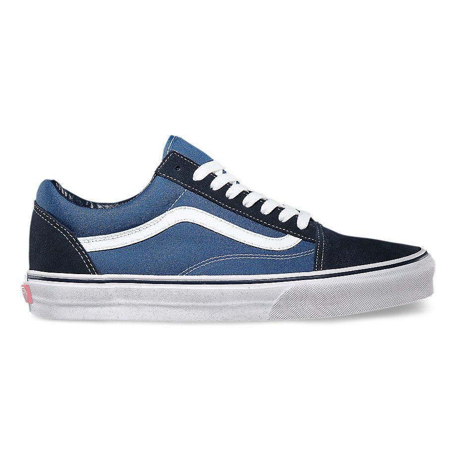 Кеды Vans Old Skool VD3HNVY синие - купить в интернет-магазине AllVans 61bcbfc143096