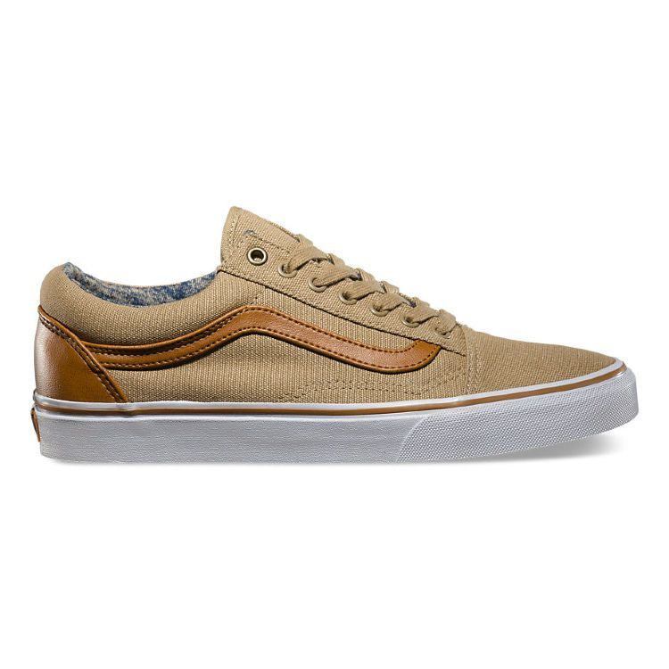 Кеды Vans Old Skool (C&L) VVOKDCX бежевые